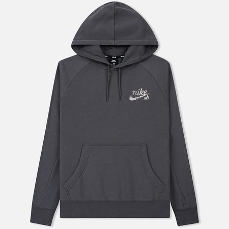 Мужская толстовка Nike SB Hoodie XLM Icon Black/Dark Grey/White