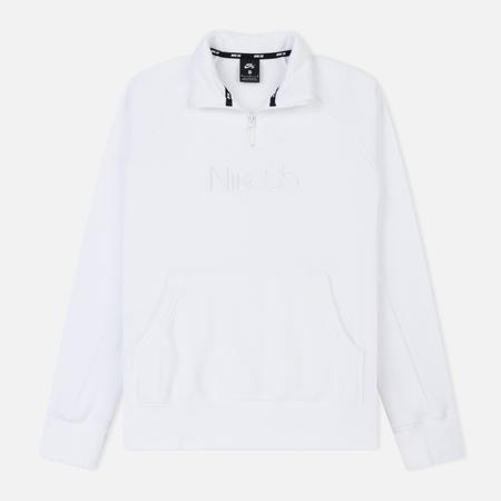 Мужская толстовка Nike SB Icon 1/2 Zip White/White