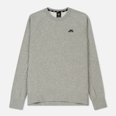 Мужская толстовка Nike SB Icon Crew Dark Grey Heather/Black