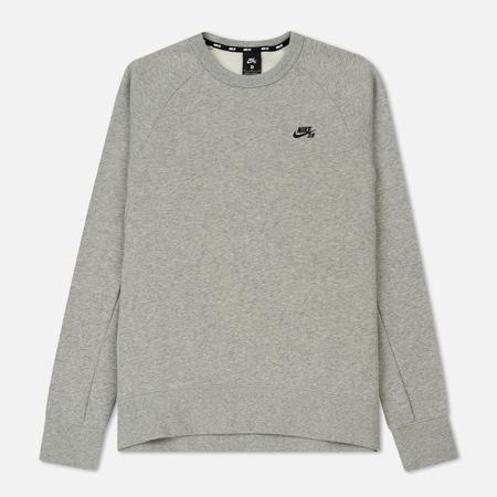 Мужская толстовка Nike SB Icon Crew Dark Grey Heather/Black