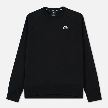 Мужская толстовка Nike SB Icon Crew Fleece Black/White