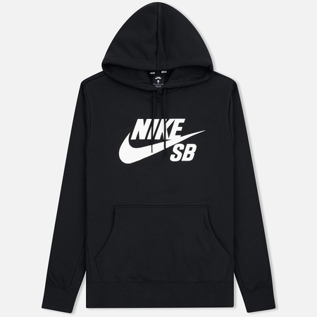 Мужская толстовка Nike SB Icon Essential Hoodie Black/White