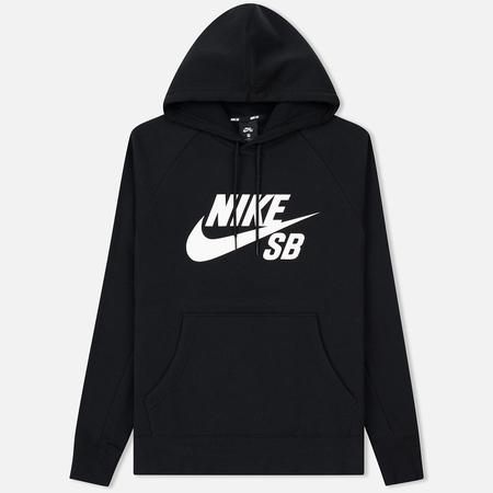 Мужская толстовка Nike SB Icon Hoodie Black/White