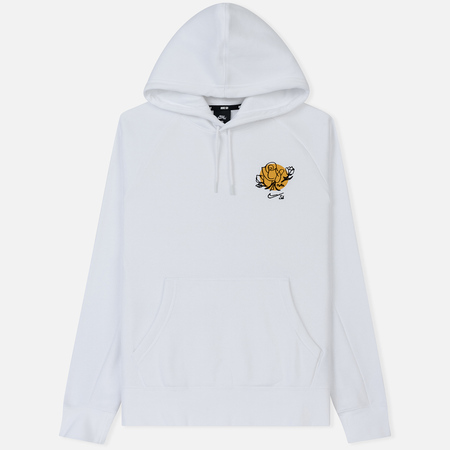 Мужская толстовка Nike SB Icon Hoodie Floral White/Black/Yellow Ochre