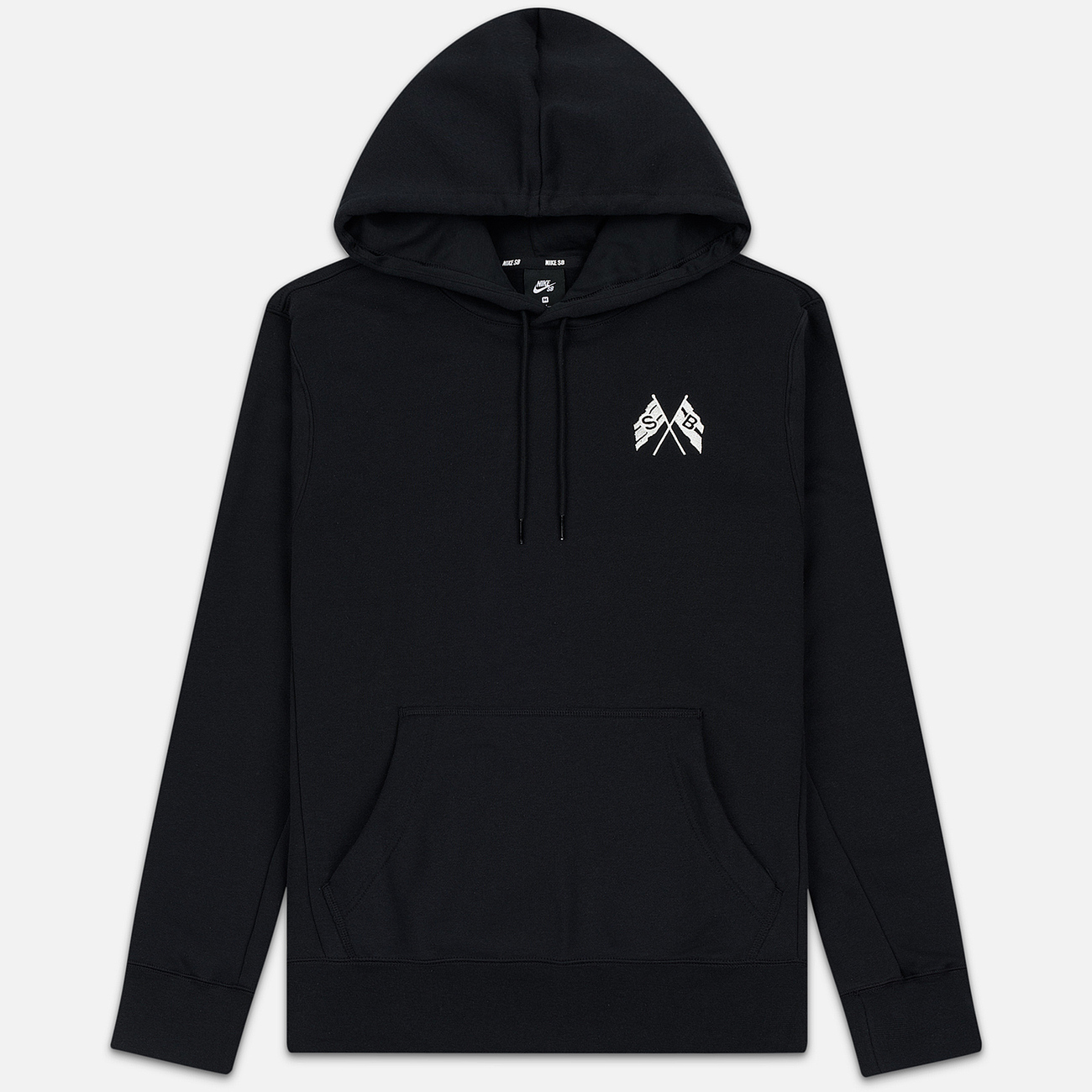 Мужская толстовка Nike SB Skate Hoodie Black/Summit White