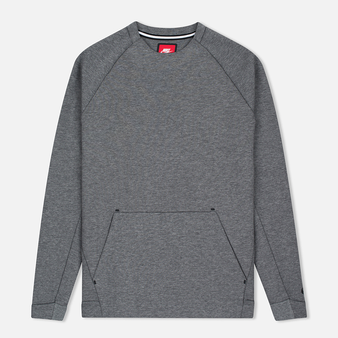Мужская толстовка Nike Tech Fleece Crew Carbon Heather