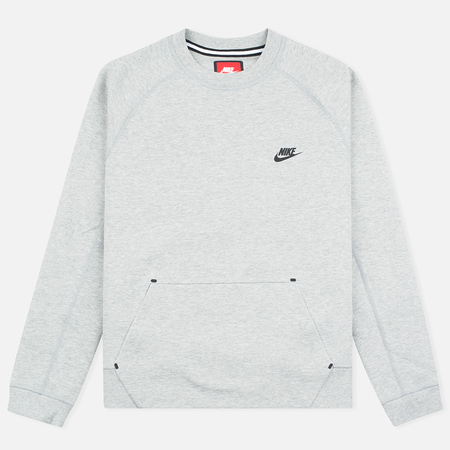 Мужская толстовка Nike Tech Fleece Crew Grey Heather