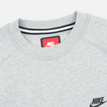 Мужская толстовка Nike Tech Fleece Crew Grey Heather фото- 1