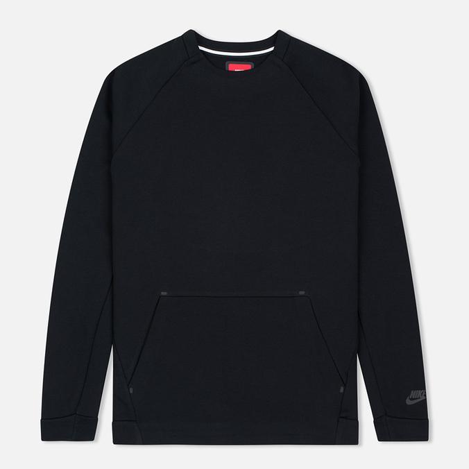 Мужская толстовка Nike Tech Fleece Crew Triple Black