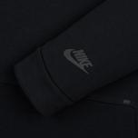 Мужская толстовка Nike Tech Fleece Crew Triple Black фото- 2
