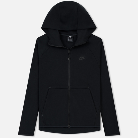 Мужская толстовка Nike Tech Fleece Hoodie Full Zip Black