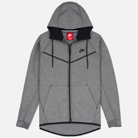 Nike Tech Fleece Windrunner Full Zip Men's Sweatshirt Carbon Heather