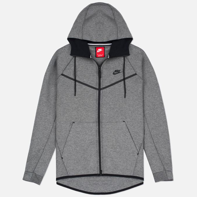 Мужская толстовка Nike Tech Fleece Windrunner Full Zip Carbon Heather