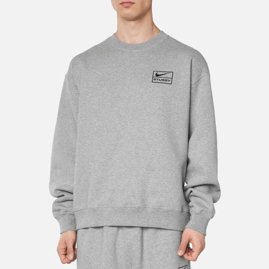 Мужская толстовка Nike x Stussy NRG Crew Fleece Dark Grey Heather