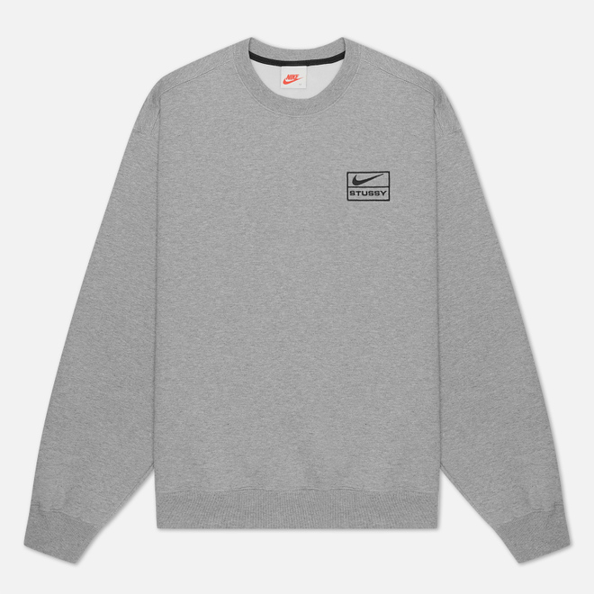 Мужская толстовка Nike x Stussy NRG Crew Fleece Dark Grey Heather