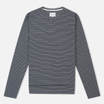 Мужская толстовка Norse Projects Haldfan Wool Stripe Navy фото- 0