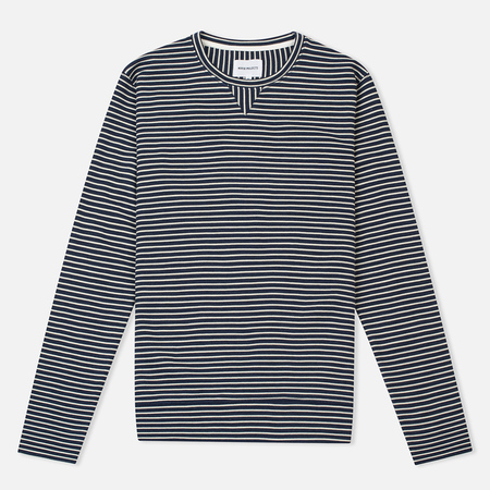Мужская толстовка Norse Projects Haldfan Wool Stripe Navy