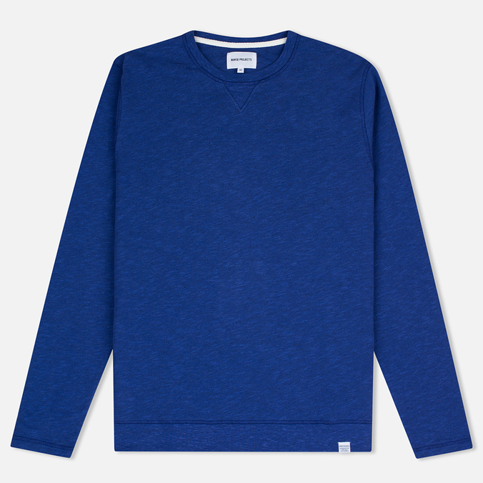 Norse Projects Halfdan Flame Overdye Men's Hoody Cornflower Blue