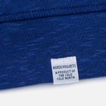 Norse Projects Halfdan Flame Overdye Men's Hoody Cornflower Blue photo- 3