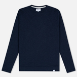 Мужская толстовка Norse Projects Halfdan Flame Overdye Navy фото- 0