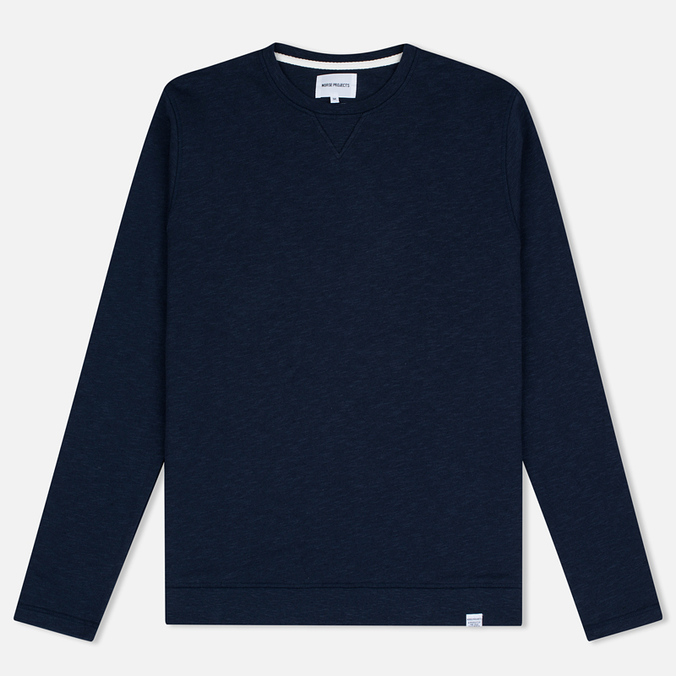 Мужская толстовка Norse Projects Halfdan Flame Overdye Navy