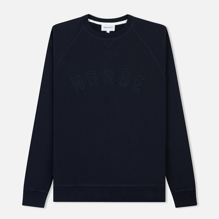 Мужская толстовка Norse Projects Ketel Classic Ivy Logo Dark Navy