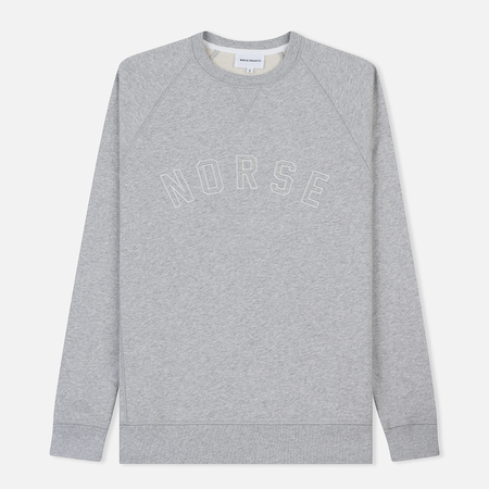 Мужская толстовка Norse Projects Ketel Classic Ivy Logo Light Grey Melange