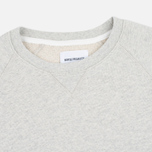 Norse Projects Ketel Crew Men's Hoody Light Grey Melange photo- 1