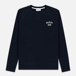 Мужская толстовка Norse Projects Ketel Ivy Wave Logo Dark Navy