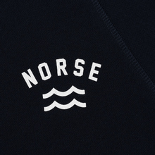 Мужская толстовка Norse Projects Ketel Ivy Wave Logo Dark Navy фото- 2