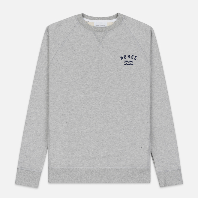 Мужская толстовка Norse Projects Ketel Ivy Wave Logo Light Grey Melange