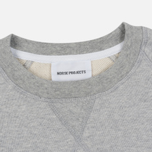 Мужская толстовка Norse Projects Ketel Ivy Wave Logo Light Grey Melange фото- 1