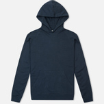 Мужская толстовка Norse Projects Ketel Light Brushed Navy фото- 0