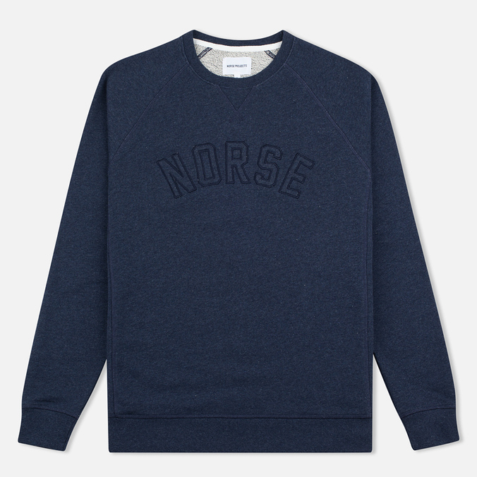 Мужская толстовка Norse Projects Ketel Logo Dark Navy