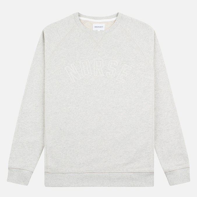 Мужская толстовка Norse Projects Ketel Logo Light Grey Melange