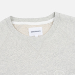 Мужская толстовка Norse Projects Ketel Logo Light Grey Melange фото- 1