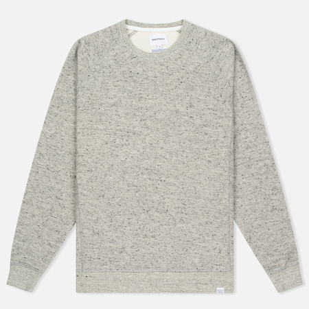 Мужская толстовка Norse Projects Ketel Melange Double Face Light Grey Melange