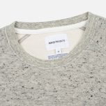 Мужская толстовка Norse Projects Ketel Melange Double Face Light Grey Melange фото- 1