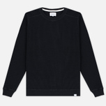 Norse Projects Vagn Compact Waffle Men's Sweatshirt Black photo- 0