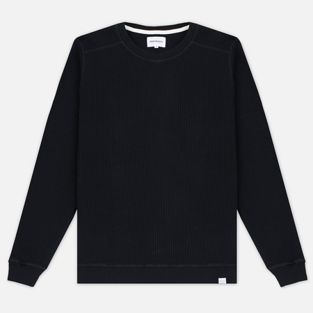 Norse Projects Vagn Compact Waffle Men's Sweatshirt Black