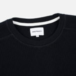 Norse Projects Vagn Compact Waffle Men's Sweatshirt Black photo- 1