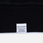 Norse Projects Vagn Compact Waffle Men's Sweatshirt Black photo- 3