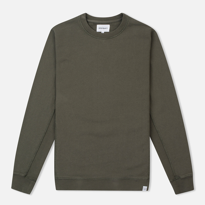Мужская толстовка Norse Projects Vagn Dry Cotton Dried Olive
