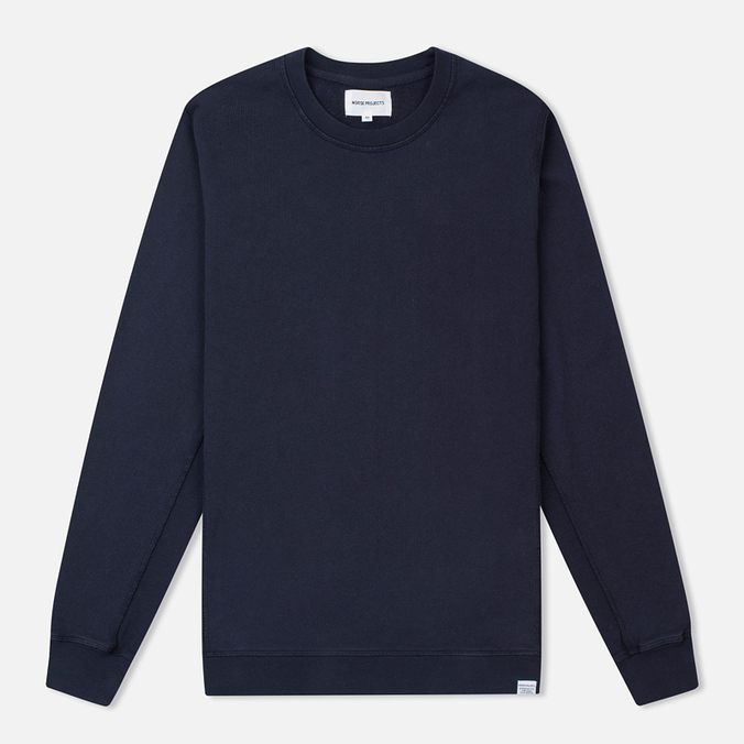 Norse Projects Vagn Dry Cotton Men's Sweatshirt Navy