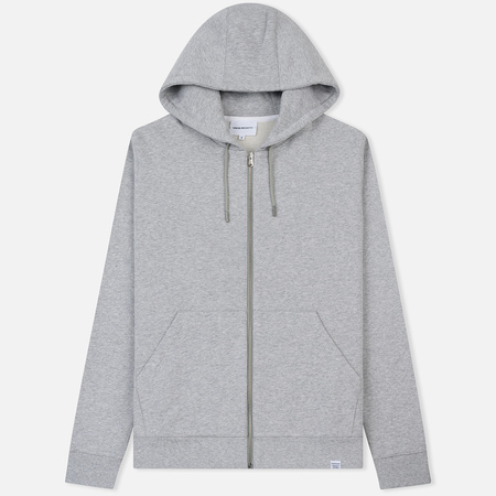 Мужская толстовка Norse Projects Vagn Zip Hood Light Grey Melange