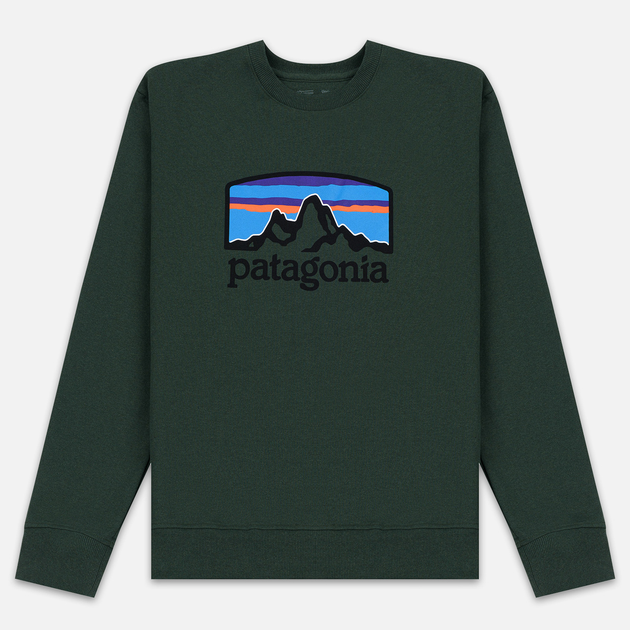 Мужская толстовка Patagonia Fitz Roy Horizons Uprisal Crew Alder Green