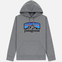 Мужская толстовка Patagonia Fitz Roy Horizons Uprisal Hoodie Gravel Heather фото- 0