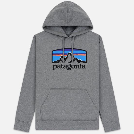 Мужская толстовка Patagonia Fitz Roy Horizons Uprisal Hoodie Gravel Heather