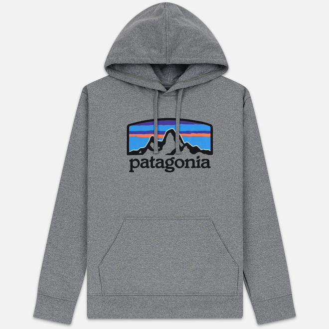 Мужская толстовка Patagonia Fitz Roy Horizons Uprisal Hoodie Gravel Heather
