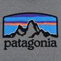 Мужская толстовка Patagonia Fitz Roy Horizons Uprisal Hoodie Gravel Heather фото - 2
